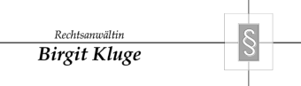Rechtsanwältin Birgit Kluge Logo